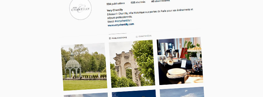 Compte instagram Very Chantilly - Chantilly - Agence LJ&C